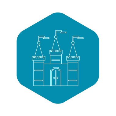 Castle icon, outline style