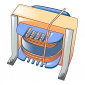 Ikone der Magnetspule, Cartoon-Stil