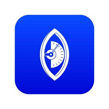 Hand power meter icon digital blue