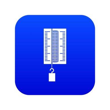 Physics dynamometer for laboratory work icon digital blue