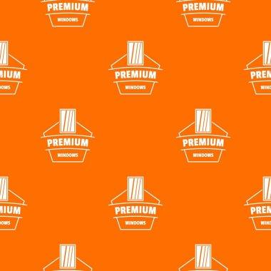 Premium material pattern vector orange