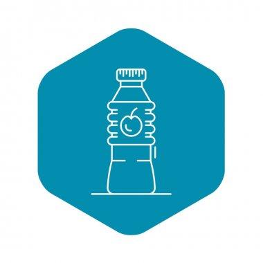 Plastic bottle apple vinegar icon, outline style