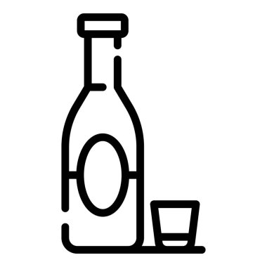 Alcohol addiction icon, outline style