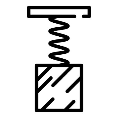 Spring force icon, outline style