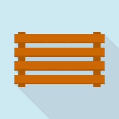 Farm fence icon, flat style