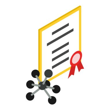 Scientific discovery icon, isometric style