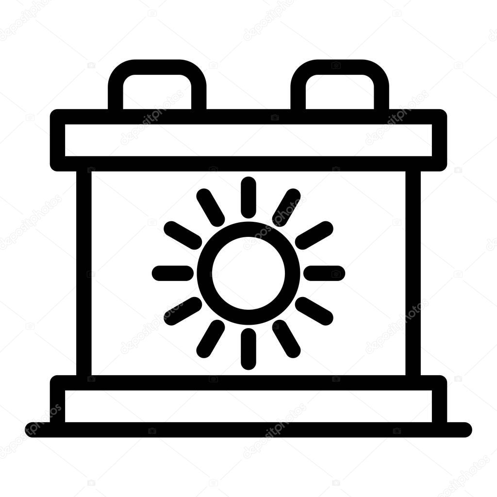 solar battery icon outline solar battery vector icon for web design isolated on white background premium vector in adobe illustrator ai ai format encapsulated postscript eps eps format wdrfree