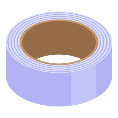 School scotch tape icon. Isometric of school scotch tape vector icon for web design isolated on white background icon