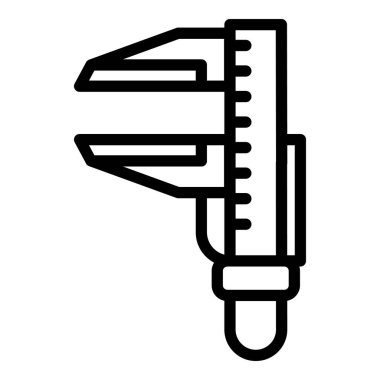 Device caliper icon, outline style