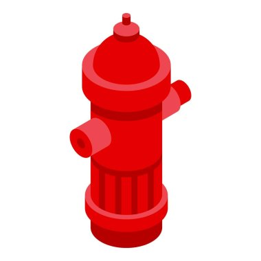 Rescuer water hydrant icon. Isometric of rescuer water hydrant vector icon for web design isolated on white background icon