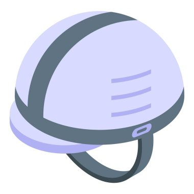 Rescuer helmet icon. Isometric of rescuer helmet vector icon for web design isolated on white background icon