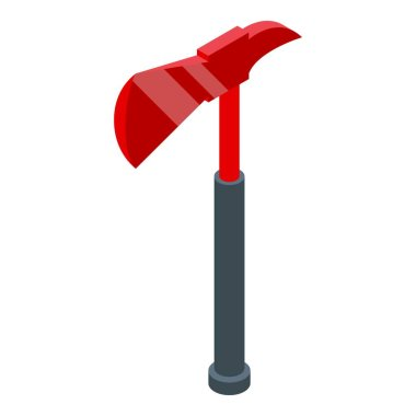 Rescuer axe icon. Isometric of rescuer axe vector icon for web design isolated on white background icon