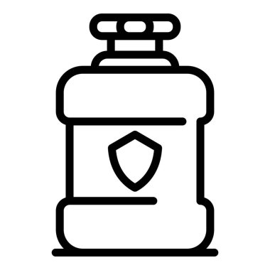 Mouthwash rinse icon. Outline mouthwash rinse vector icon for web design isolated on white background icon