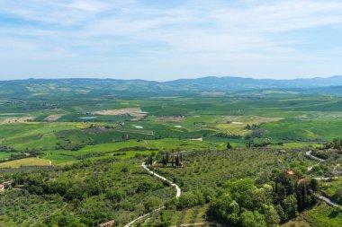 """Картина, постер, плакат, фотообои """"удивительный весенний красочный пейзаж в тоскане, италия ."""", артикул 256699098"""