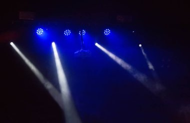 scenic spotlights against dark background