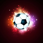 active sport background with football ball in lights