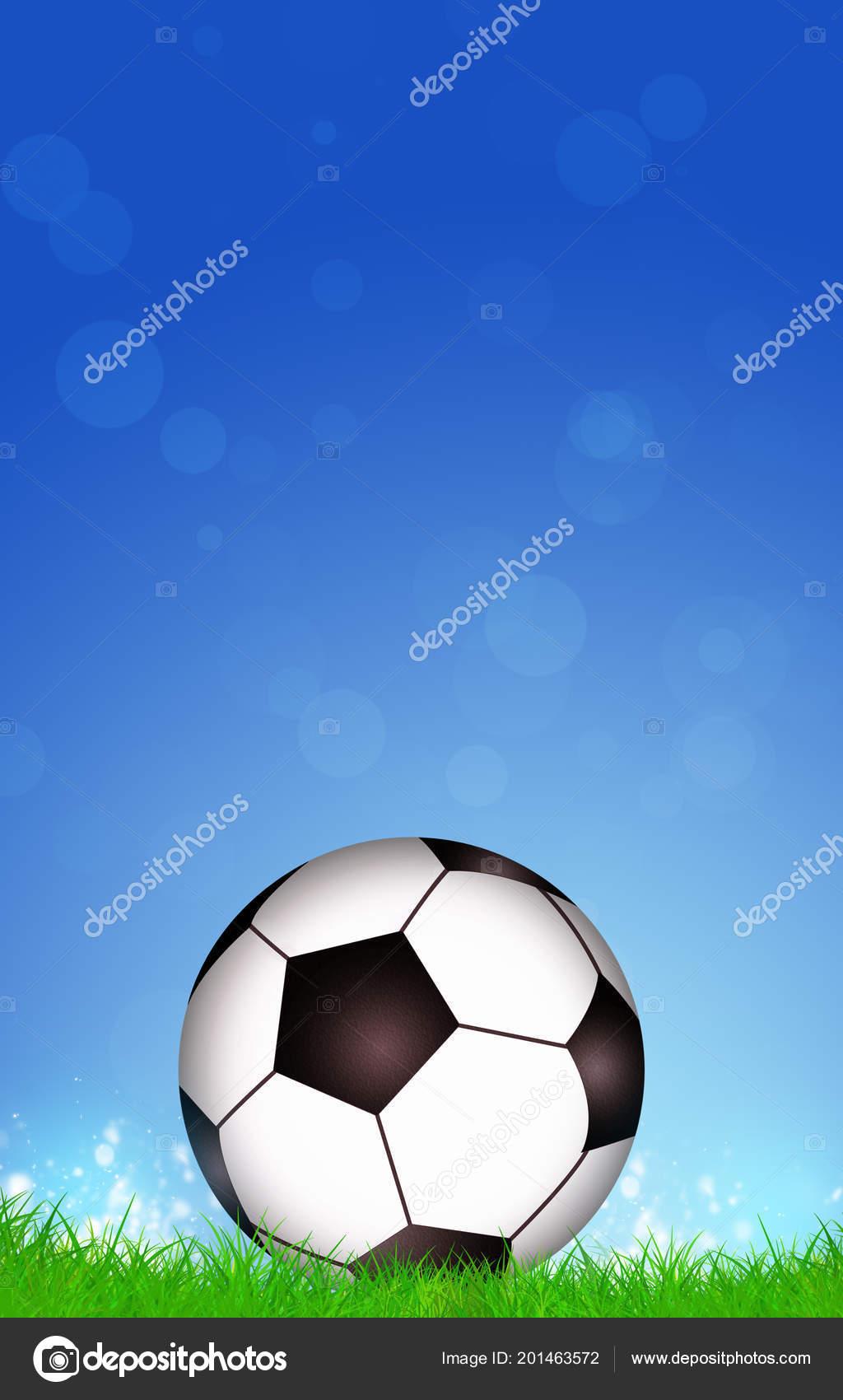 Sfondo Blu Sport Sfondo Blu Sport Attivo Con Una Sfera Calcio
