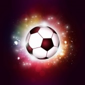 active sport multicolor background with a football ball