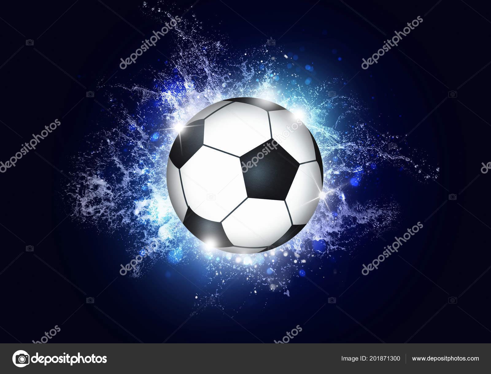 Sfondo Blu Sport Sfondo Blu Sport Attivo Con Pallone Calcio