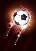 active sport soccer multicolor background with a football ball