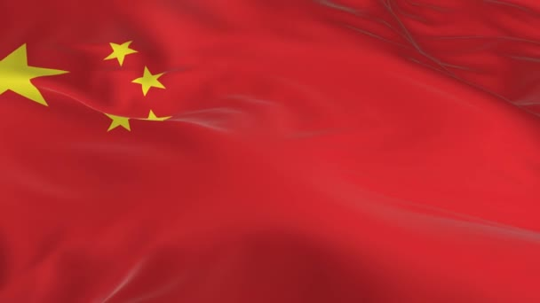 waving in the wind looped flag as a background China