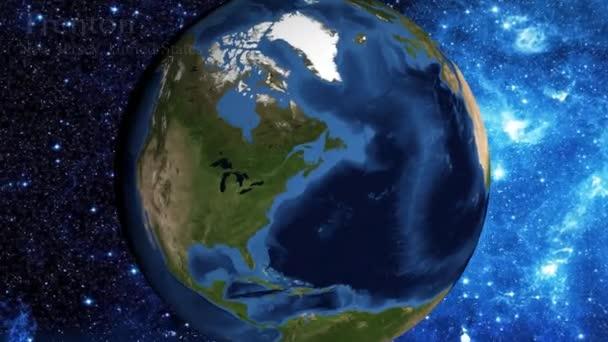 přiblížení z vesmíru a zaměřit se na New Jersey Trenton Usa