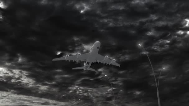 Svatá Lucie, přístup letadel přistávat v noci v oblačné počasí létání nad jméno země a jejich vlajky