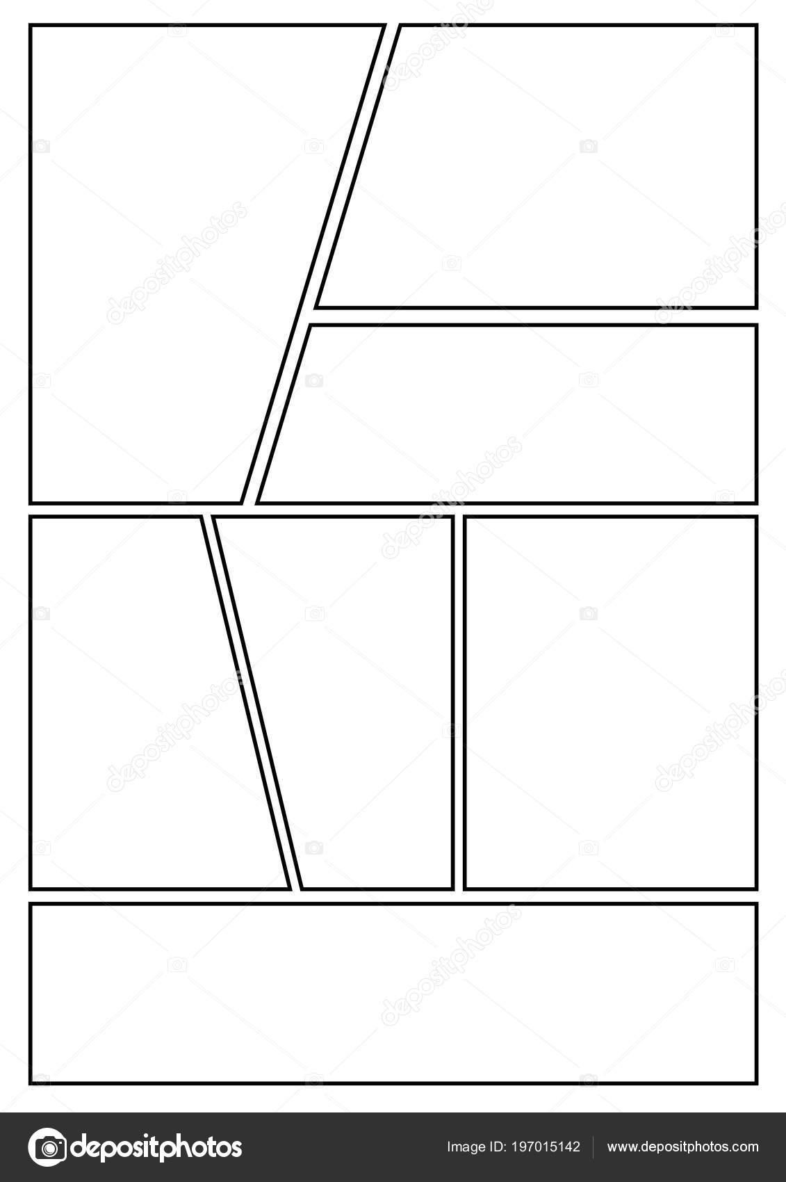 Plantilla Diseño Storyboard Manga Para Rápidamente Crear Estilo ...