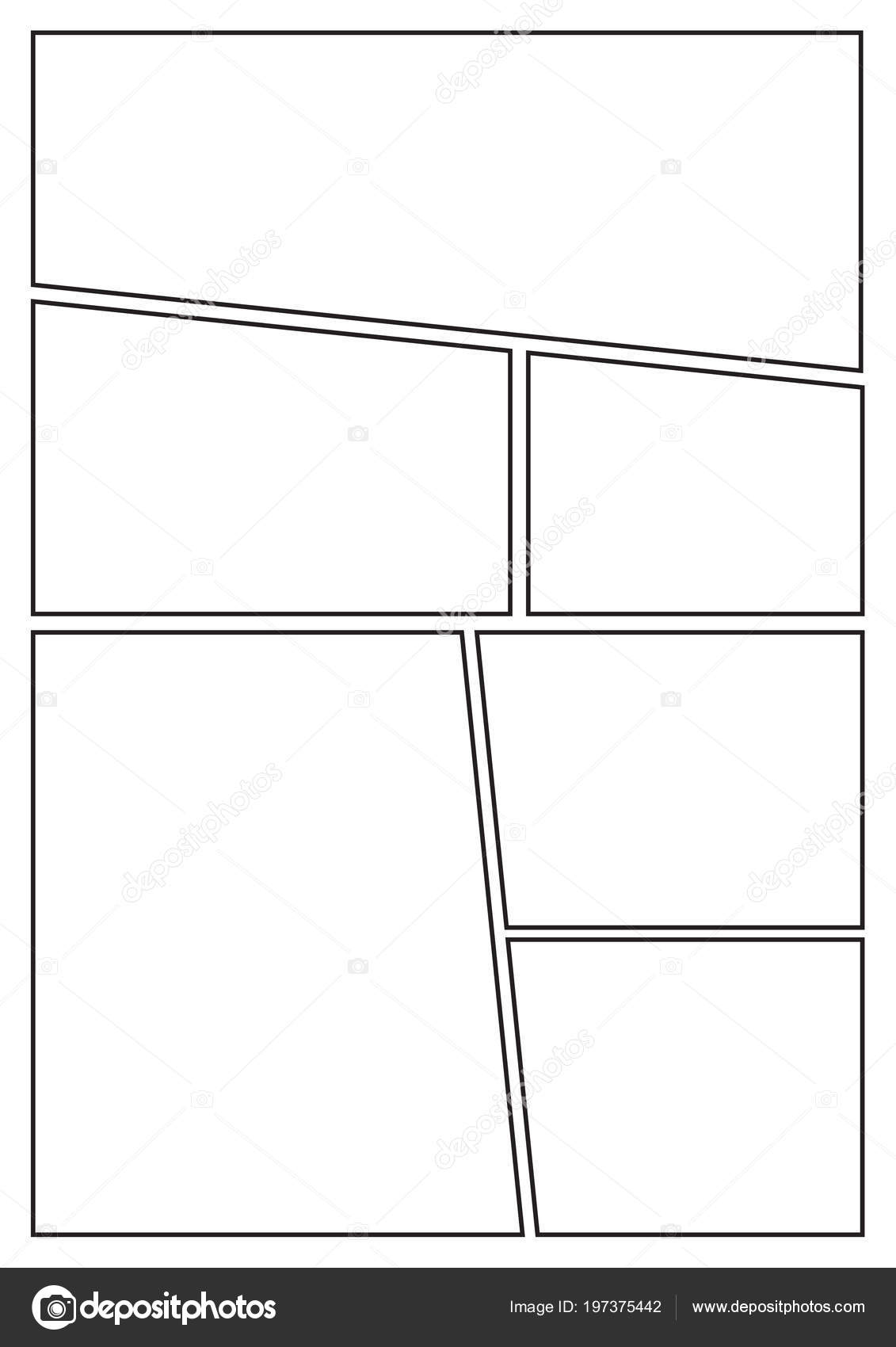 Manga Storyboard Layout Template Rapidly Create Comic Book Style ...