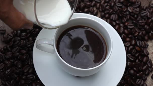Make a cup of coffee slow motion