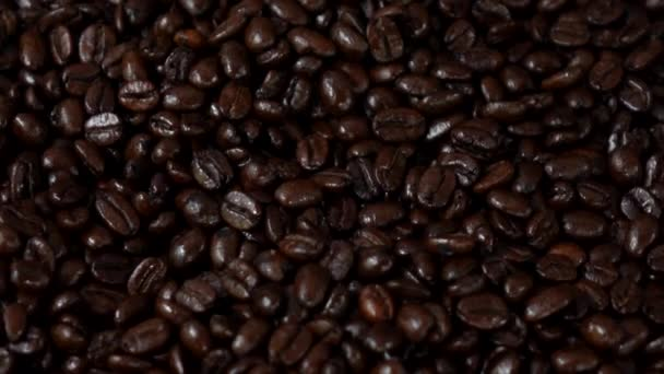 Roasted coffee slow motion