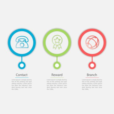 3 icons Vector infographic template for diagram, graph, presentation, chart, business concept.