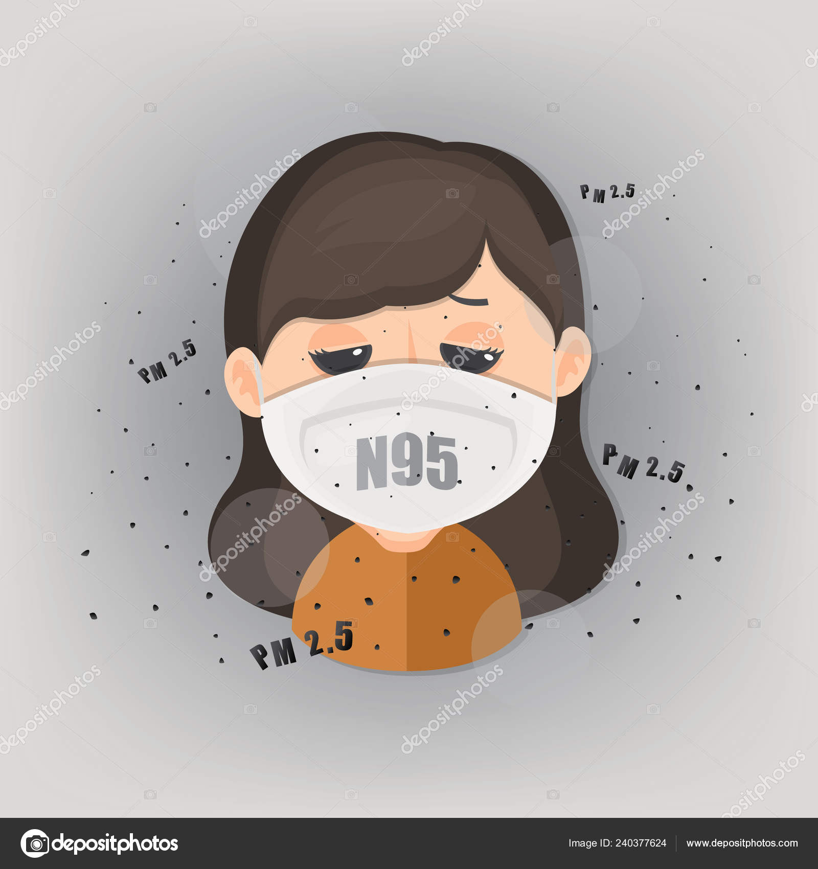 Meter Air Human Outdoor Dust Wearing Pollution Protect N95 Mask
