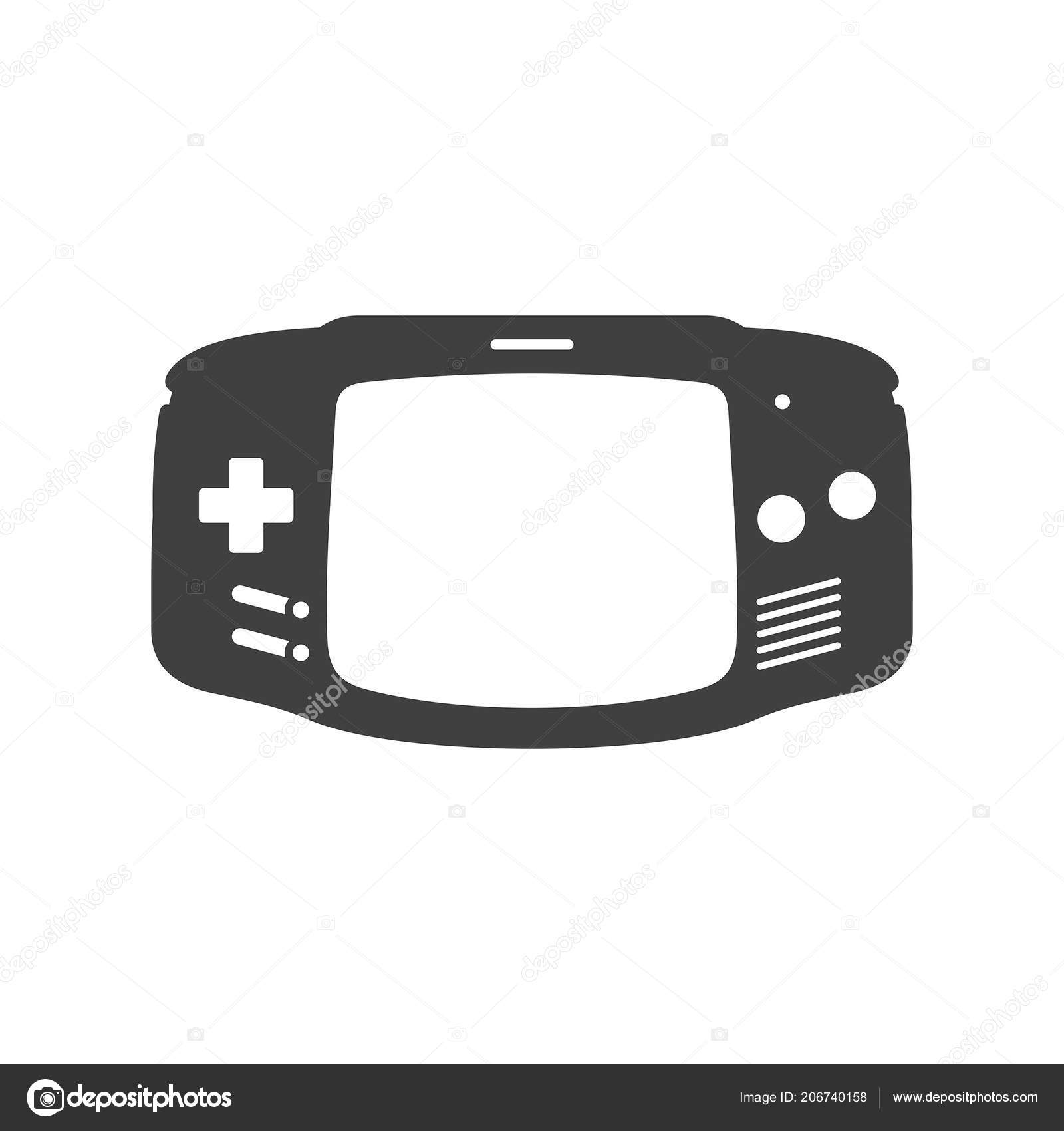 Video Game Joystick Icon Silhouette Black Isolated White Background