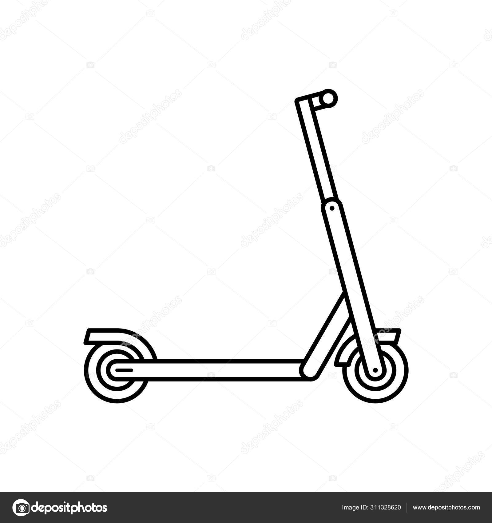 Electric Scooter Isolated White Background Stock Vector C Volykievgenii 311328620