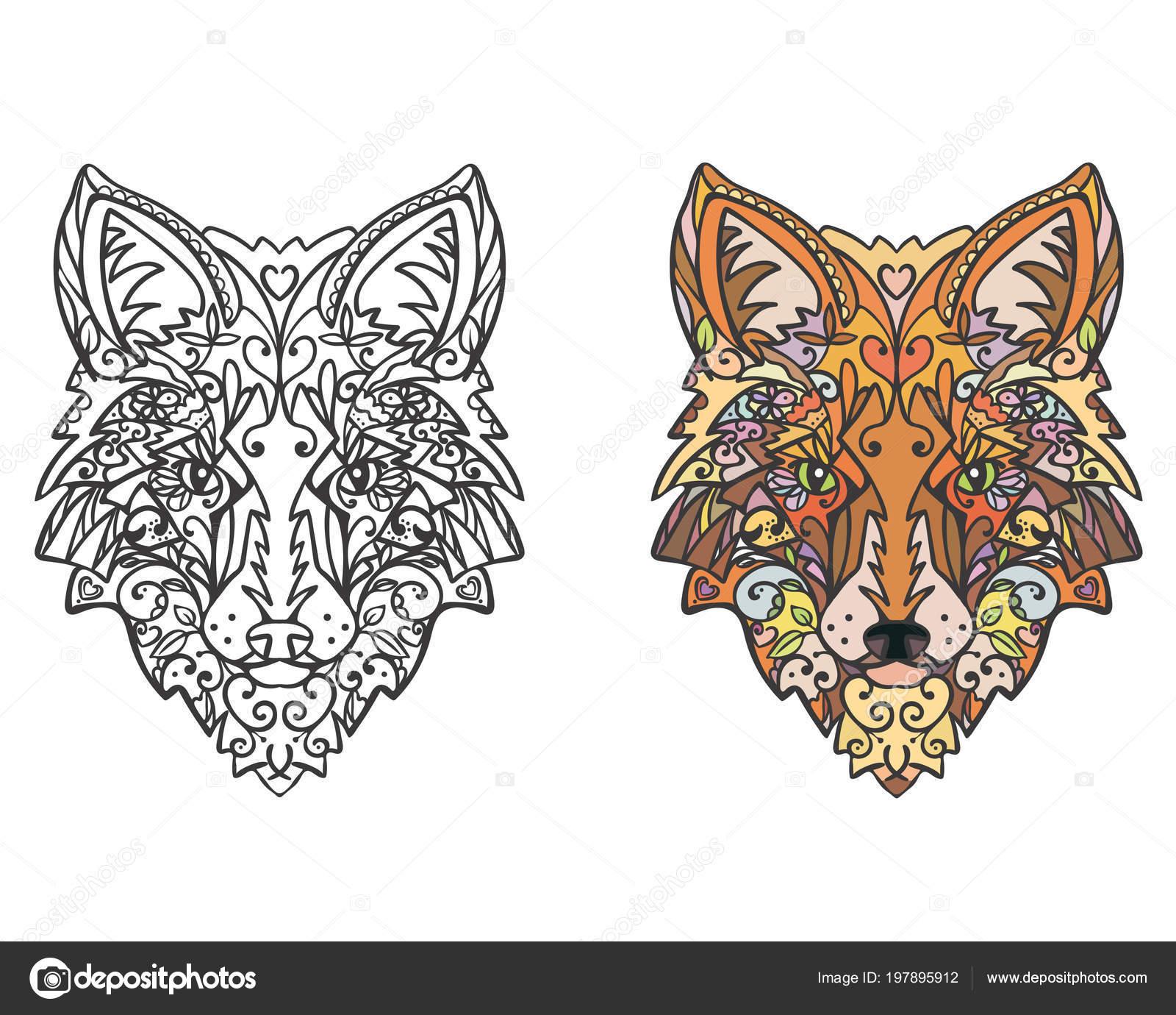 Zentangle Tier Färbung Seite Stockvektor Tatianashestel