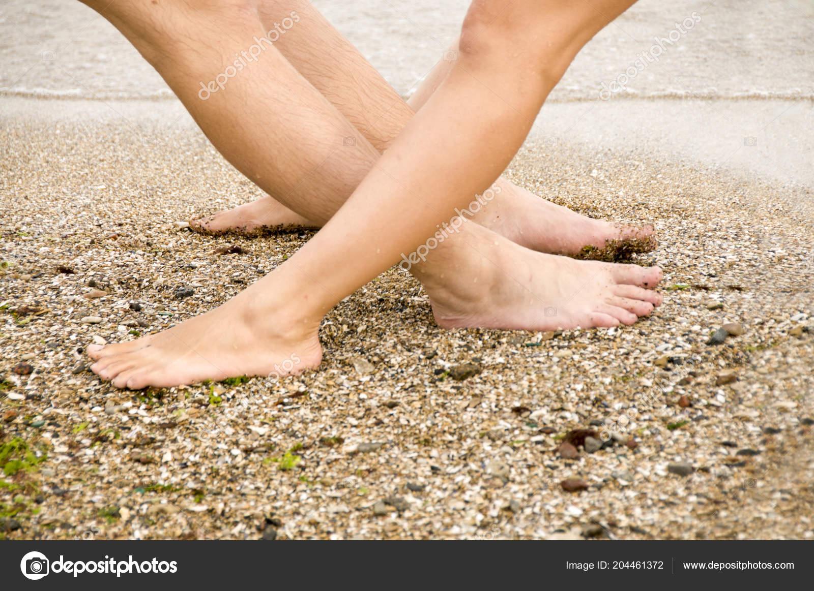 Share woman bare feet
