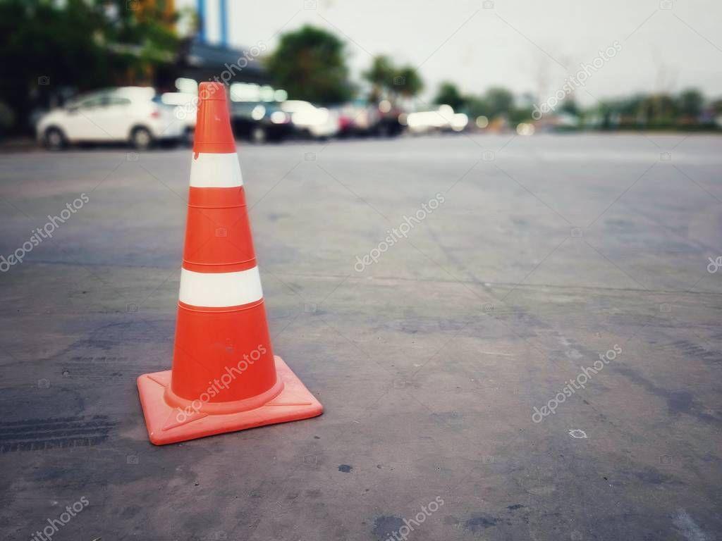 Red rubber cone