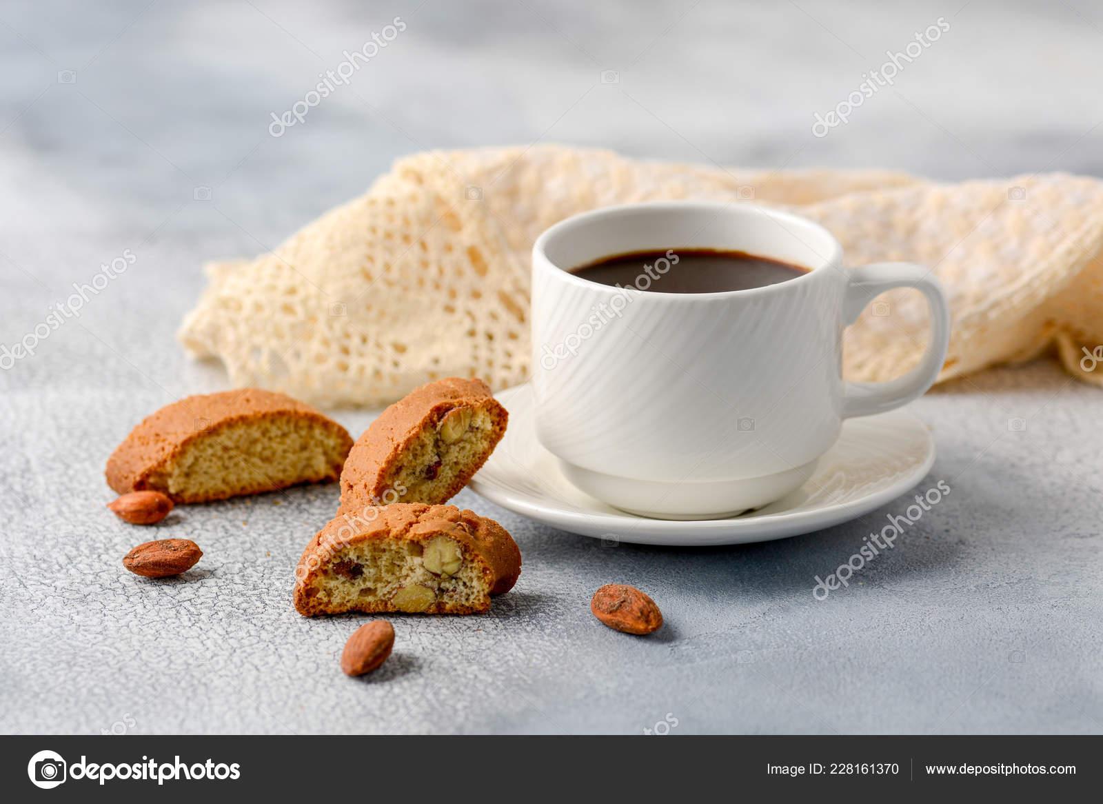 Guten Morgen Konzept Frühstück Schaumig Espressokaffee
