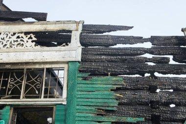 Demolition house using excavator in city. Rebuilding process. Remove equipment. stock vector