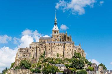 Mont Saint Michel Abbey. Normandy, France