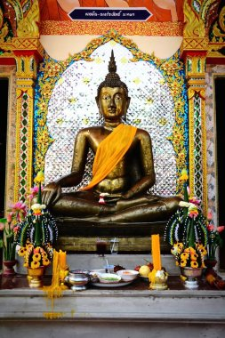 The elegance of Buddha statue in Thai temple
