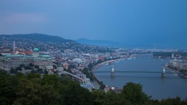 Bad weather evening panoramic time lapse. Budapest, Hungary