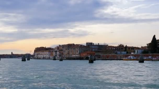 Grand Canal sea water panoramic view, Venice, Italy, Europe