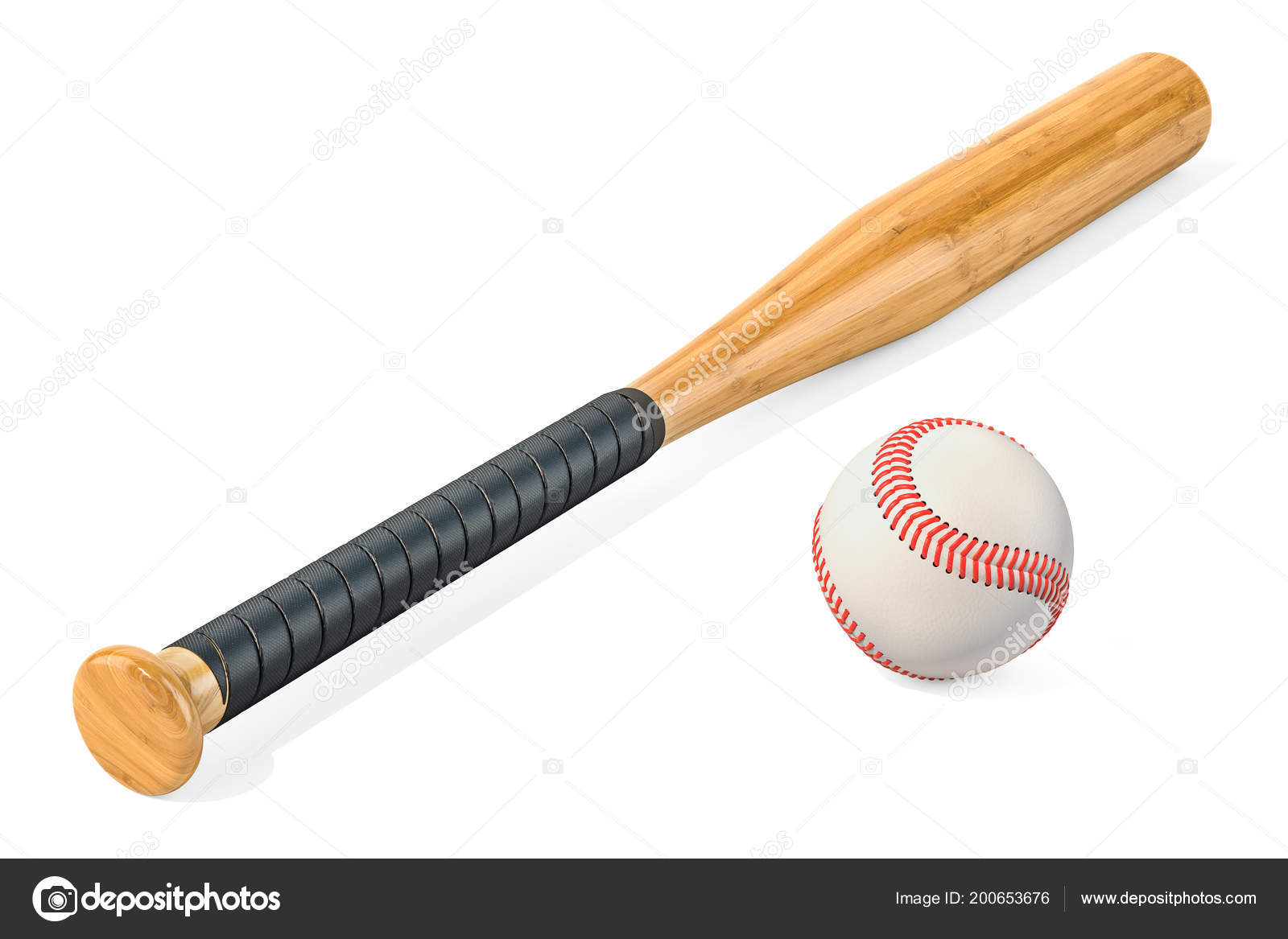 Bola Béisbol Bate Render Aislado Sobre Fondo Blanco — Foto de stock ... 197997e71233a