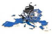 Postižení v pojetí Evropské unie, vykreslování 3d objektů izolovaných na bílém pozadí