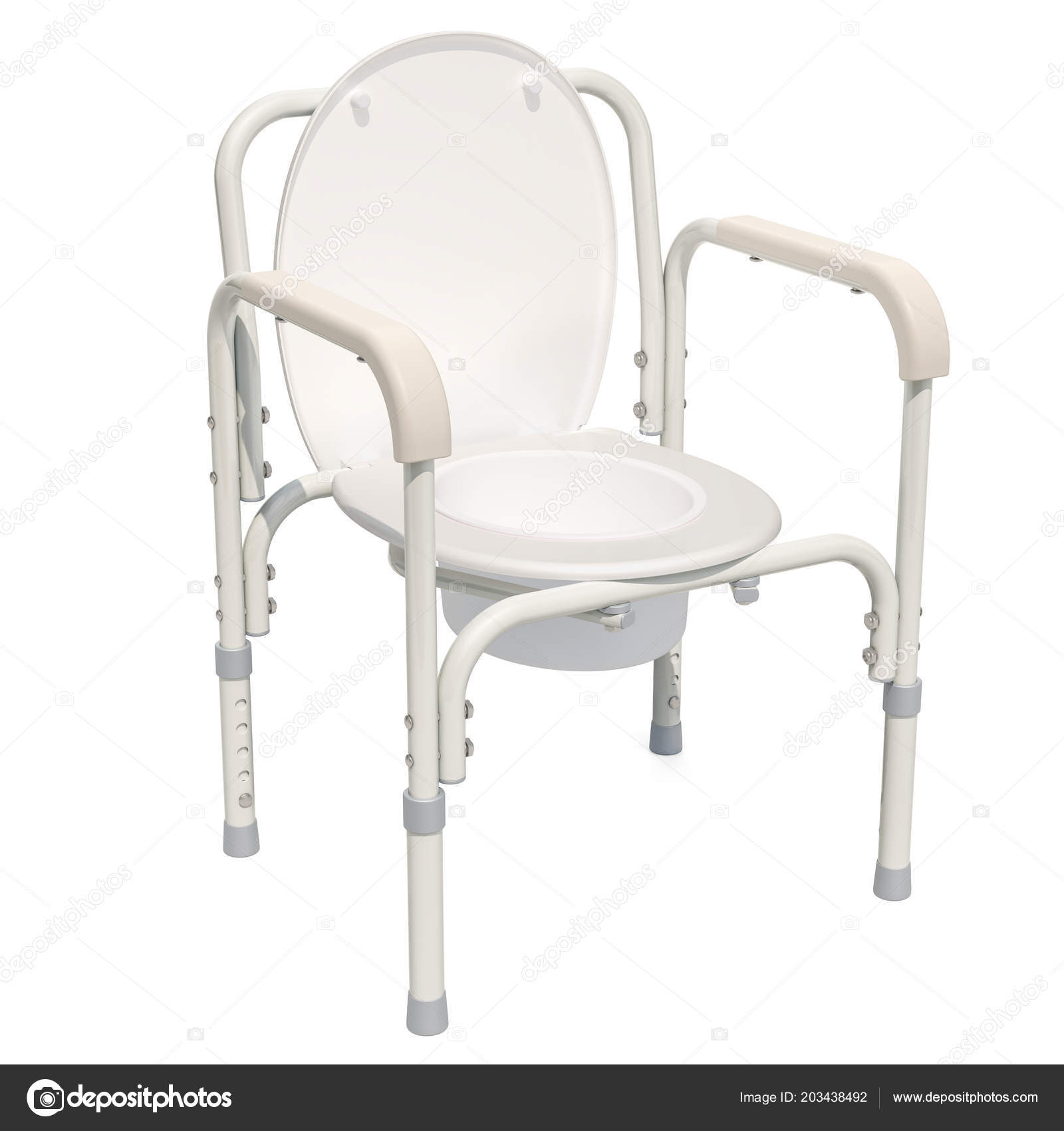 Handicap Portable Toilet Chair Rendering Isolated White Background ...