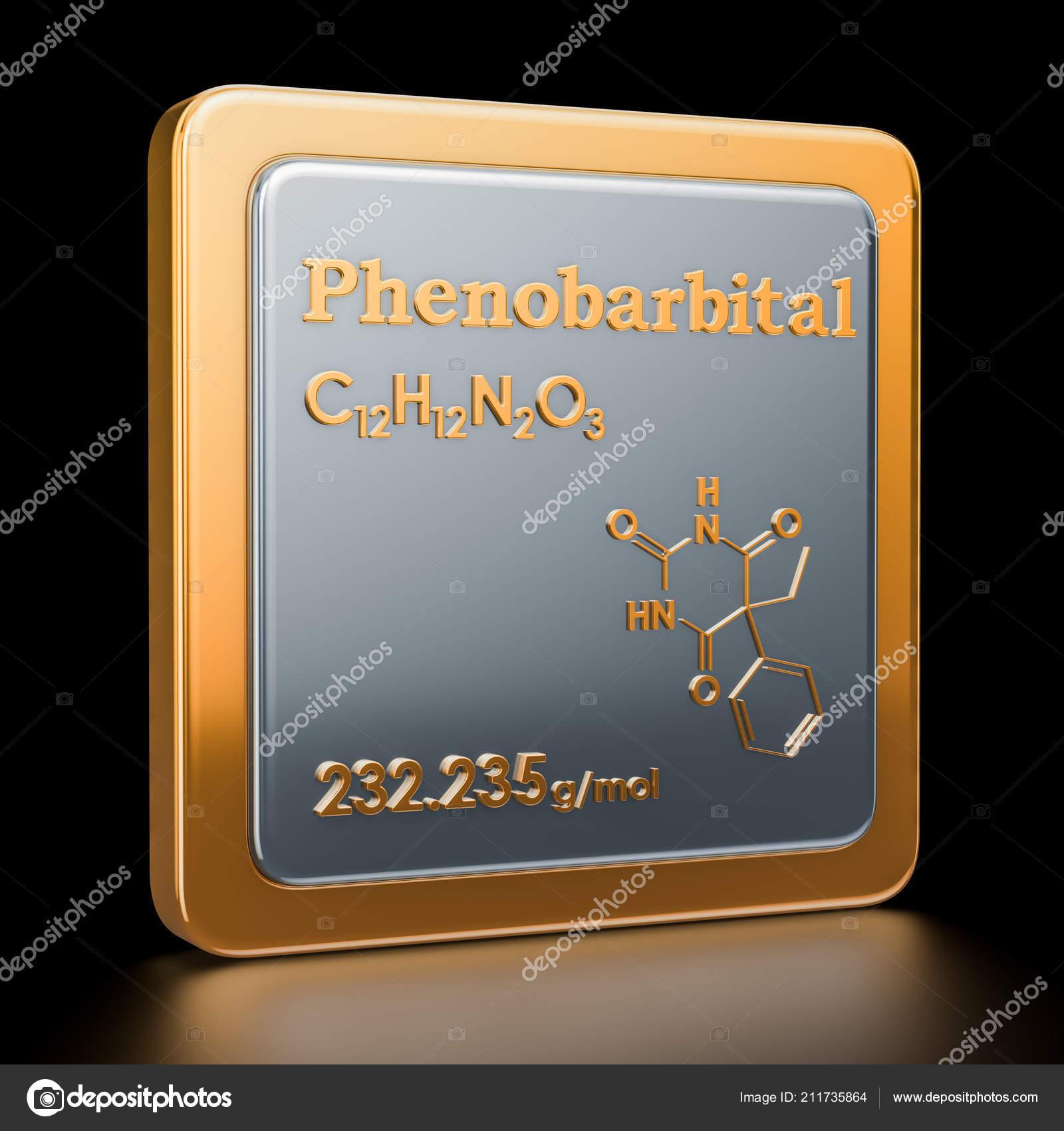Fenobarbital Icono Estructura Molecular Fórmula Química