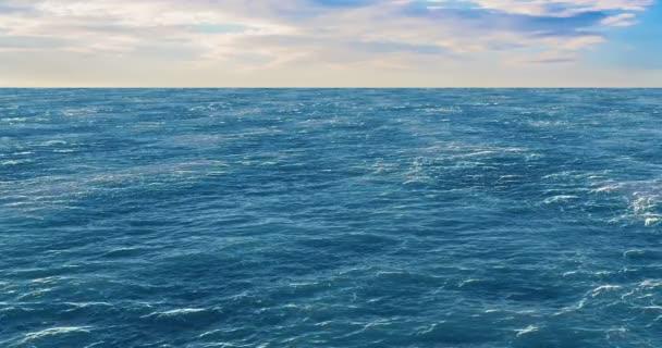 Hladina oceánu, 3d animaci. 3D vykreslování