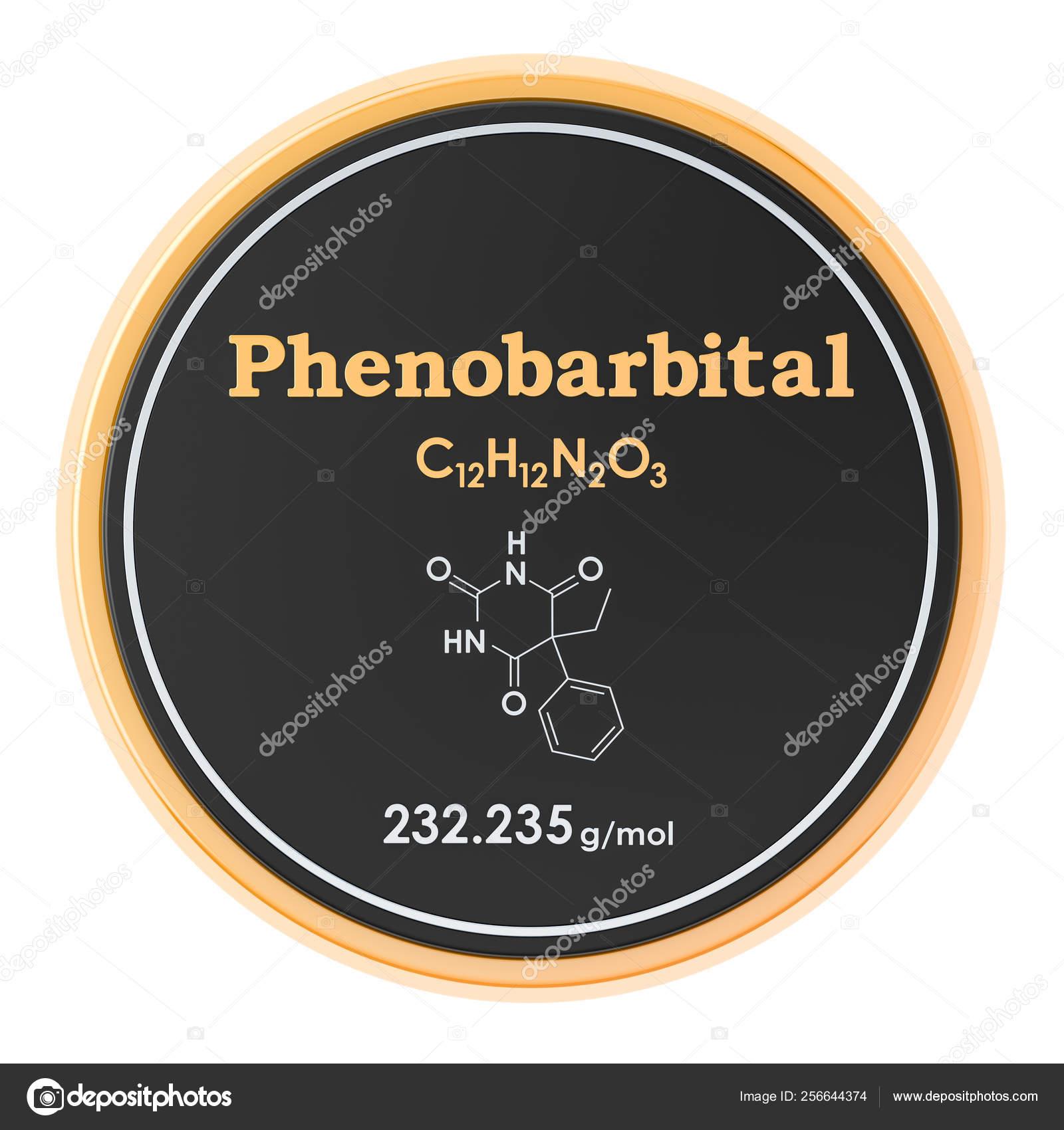 Fenobarbital Fórmula Química Estructura Molecular 3d